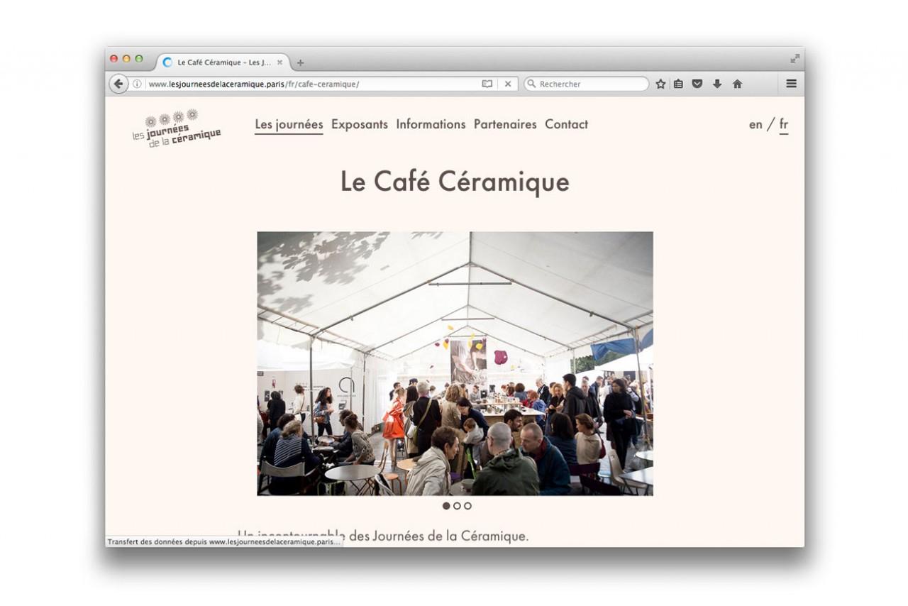 Vincent Gebel  — D.A., Design graphique Journées de la céramique Paris